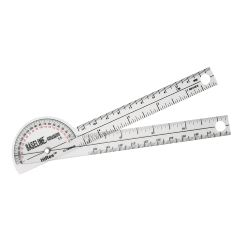 Baseline Plastic Goniometer - Pocket Style - Hires 180 Degree Head - 6 Inch Arms