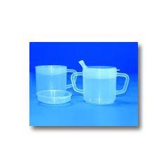 AliMed Mugs with Lids Two-Handled Mug w/Lid, 6oz, Case of 20