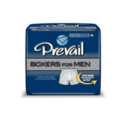 Prevail Boxers Disposable Incontinence Boxer Shorts for Men