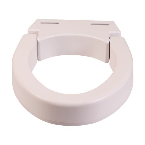 Mabis DMI DMI Hinged Elevated  Toilet Seat Riser, Standard Model 178 585952 01