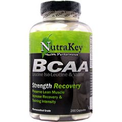 Nutrakey BCAA 1500 Strength Recovery Supplement 200 Capsules