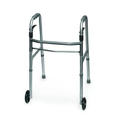 Invacare Supply Group Sure Lever Release Folding Walker, 2 Button
