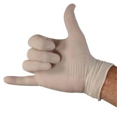 Latex Powdered Exam Gloves