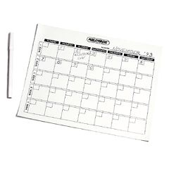 Write-On/Wipe-Off Generic Calendar