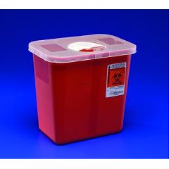 Red SharpSafety Large Volume Phlebotomy Sharps Containers - 2 gallon