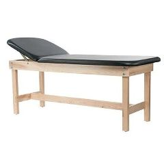 "Custom Craftworks Edge Sport Series Lift Back Wood Treatment Table with H-Brace 31""H"