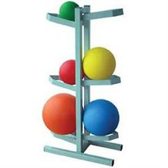 Ideal Medical Products Free Standing Medicine Ball Rack-Holds 6