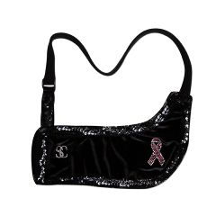 Sling Couture Royal Black Tie Arm Sling - Breast Cancer Awareness
