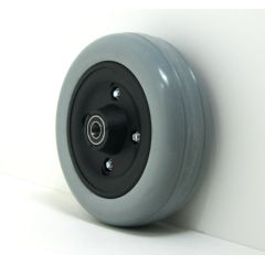 """6"""" x 2"""" Caster Wheels With Urethane Tires and B20 Bearings Pair"""