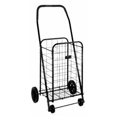 Mabis DMI Folding Shopping Cart in Black