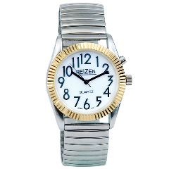 Reizen Mens Glow Low Vision Watch w/ Blue EL Light