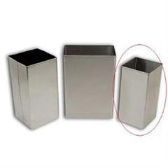 ScripHessco Standard Stainless Steel Waste Receptacle, 32 Qt