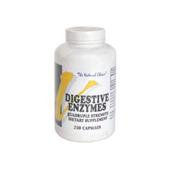 Vitalabs Digestive Enzymes, Quadruple Strength - 250 capsules