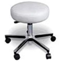 """Deluxe Chrome Pneumatic Stool, 18""""-23"""" Height"""