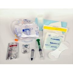 Medline Erase CAUTI Silicone Foley Catheter Tray 10ML 5cc