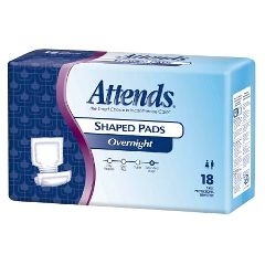 Attends Overnight Shaped Pads