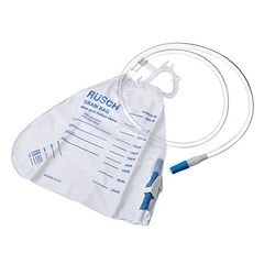 Rusch Bedside Drainage Bag with Anti-Reflux Valve - 2000mL, Sterile