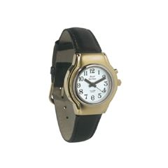 Ladies Royal Tel-Time One Button Talking Watch w/Leather Band