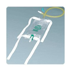 Dispoz-a-Bag with Flip-Flo Valve - Extension Tubing, Fabric Leg Straps