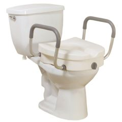 "Locking Elevated Toilet Seat - 5"", Removable Arms"