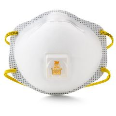3M N95 Particulate Respirator Mask w / Valve & Faceseal with Ear Loops