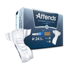 Attends Extended Wear  Incontinence Liner Pad Heavy Asorbency