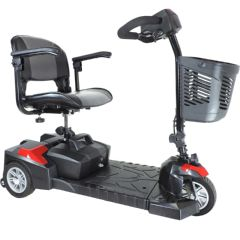 Drive Scout DLX 3 Wheel Compact Travel Mobility Scooter