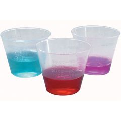 Calibrated Plastic Medicine Cup - 1oz