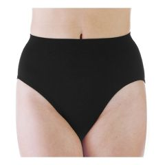 Wearever Women's Smooth and Silky High Leg Incontinence Panty - Black