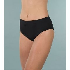 Wearever Women's Smooth and Silky Seemless Full Cut Incontinence Panties Black