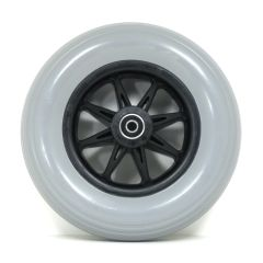 "New Solutions 8"" x 2"" Caster Wheels With molded-on Tires and B12 Bearings Pair"