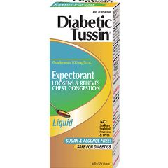 Expectorant Liquid Diabetic Tussin EX 100 mg / 5 mL 4 oz.