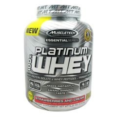 Essential Series MuscleTech Essential Series 100% Platinum Whey - Strawberries and Cream