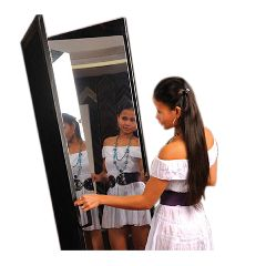 Fabrication Glassless Mirror, Free-Standing Double Panel, 2 24 X 72 Inch Panels