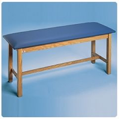 "Sammons Preston Upholstered Treatment Tables Standard H-Brace Treatment Table 72""L x 24""W x 31""H Nordic Blue"