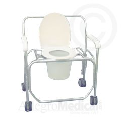 ConvaQuip Bariatric Transport Shower Chair - 650 lb Capacity