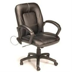 Comfort Products, Inc Four Motor Massage Mid Back Leather Chair