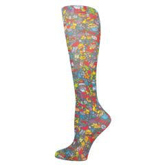 Christmas Celebration Fashion Line Compression Socks