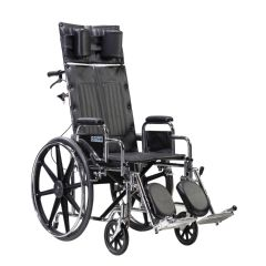 "Drive Sentra Reclining Wheelchair, 22"" Wheelchair with Detachable Desk Arms"