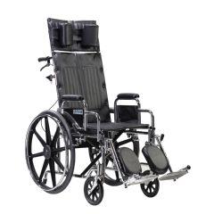 "Sentra Reclining Wheelchair, 22"" Wheelchair with Detachable Desk Arms"