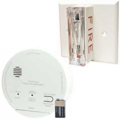 Gentex GN-503FF Hard Wired T3 Smoke/T4 Carbon Monoxide Photoelectric Alarm with Ceiling Strobe