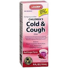 Cardinal Health Leader Cold and Cough Elixir 4 oz.