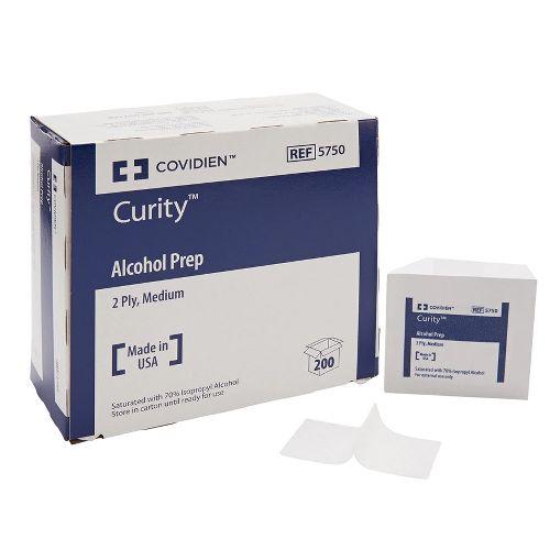 Curity Alcohol Prep Pads, Medium 2-Ply, Sterile