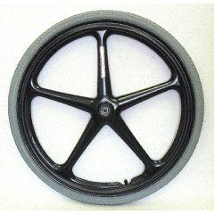 "24"" x 1 3/8"" (1/2"" Axle) Black 5 Spoke X-Core Rear Wheel w/ Narrow Hub (2.0"") Pair"