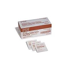 "PDI Povidone Iodine Prep Pad - Medium, 1 3/16"" x 2 5/8"""