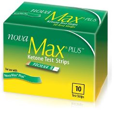 Nova Max Plus Ketone Test Strips