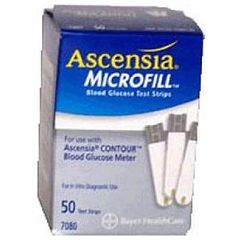 Ascensia Microfill Diabetic Strips Box of 50