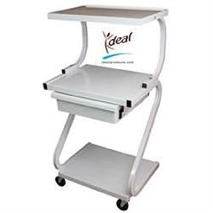 Ideal Medical Products 3 Shelf Trolley Plus Drawer Z Form With Electric