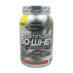 Essential Series MuscleTech Essential Series 100% Platinum Iso-Whey - Strawberry Shortcake