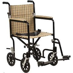 Designer Fly-Lite Aluminum Transport Chair